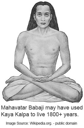 Mahavatar Babaji may have used Kaya Kalpa to live 1800+ years